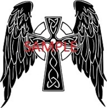 WINGED CROSS  CROSS STITCH CHART - $8.00