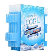 Slim Freezer Ice Cool Packs For Lunch Box Bags And Coolers Reusable Set ... - $14.24