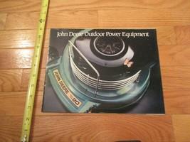 John Deere Outdoor Power equipment Vintage Dealer sales brochure 12 - $15.99