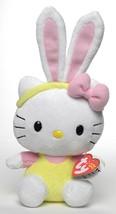 TY Hello Kitty Easter Pink Ears Beanie Babies Plush Stuffed Animal Doll ... - $15.19