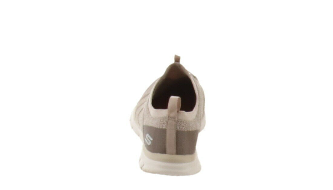 Skechers Bungee Slip-On Sneakers Glider Tuneful Taupe 10W NEW A346595
