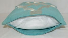 Split P 2806053CVR Pillow Plus Turquoise Margaux Geo Embroidered Cover 16 In image 6