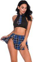 Oliveya School Girl Lingerie Set Sexy Uniform Set Role Play Mini Plaid Skirt image 5