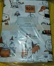 POTTERY BARN KIDS Peanuts Snoopy Sheets FULL happiness halloween pumpkin pillow - $175.00