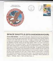 STS-54 ENDEAVOUR KENNEDY SPACE CENTER FLORIDA JAN 13 1993 WITH INSERT CARD - $1.78