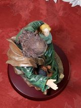 """Vintage """"Jesus Blessed Light"""" STATUE 9"""" On Wood Base HERCO GIFT PROFESSIONAL image 5"""