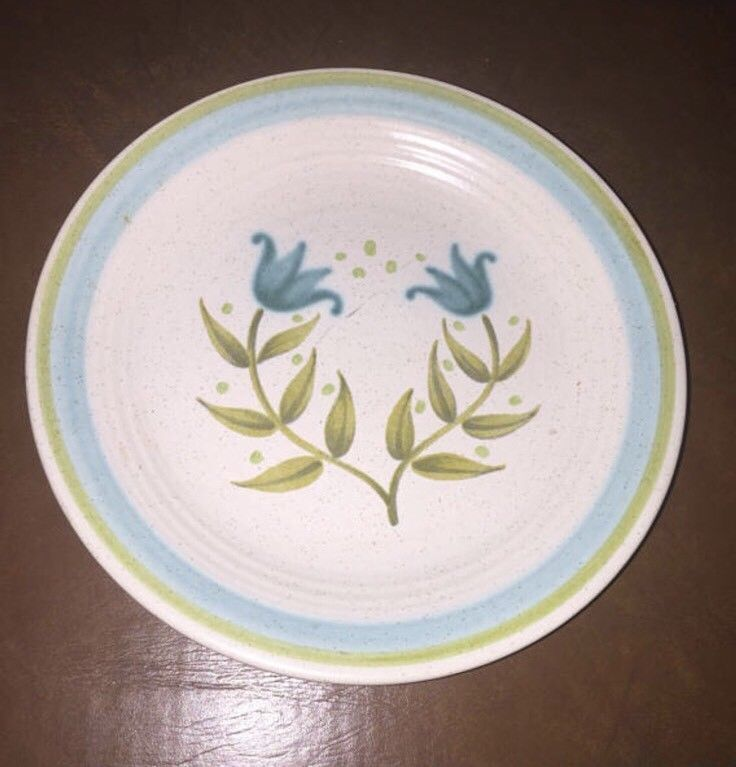 "Franciscan Tulip Time Bread And Butter 6 5/8"" Plates Vintage Qty 5"