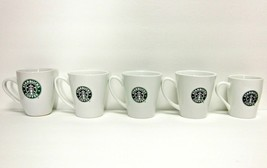 STARBUCKS COFFEE COMPANY MIXED LOT (5) CLASSIC MERMAID LOGO WHITE  CUPS/... - $63.37
