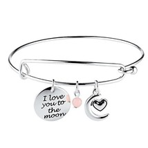 Avon Precious Charms Bracelet Love Collection I LOVE YOU TO THE MOON - $9.87
