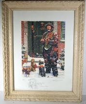 Unique Signed Artist Proof Leighton Jones Emmett Kelly Christmas Carol Scrooge image 1