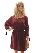 New Women's Los Angeles Guess M Medium Summer Dress Burgundy Cold Should... - $39.15
