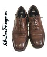 $895 Salvatore Ferragamo Super Prime Oxfords | 153 | Brown  Mens Shoes s... - $103.55