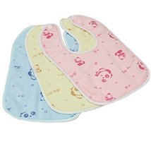 Set of One Baby Boy Girls Painting/Eating Velvety Bibs Random Color -A498 - $14.07