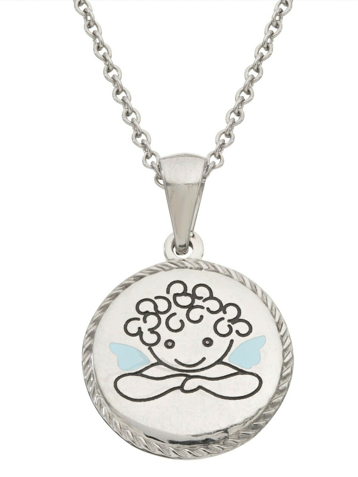 """Connections from Hallmark Stainless Steel Guardian Angel Pendant 15"""" Chain + 2"""" - $18.99"""