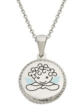 """Connections from Hallmark Stainless Steel Guardian Angel Pendant 15"""" Cha... - $18.99"""