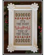 Wonderful Time Of The Year christmas cross stitch chart Country Cottage ... - $7.20