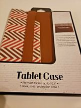 "Tailored Leather Tablet Case Fits Up To 10.1"" (Multicolor and brown) image 4"