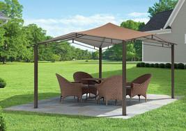 Steel Gazebo Garden Canopy Heavy Duty Large 12 x 12 Outdoor Permanent Pe... - $395.99