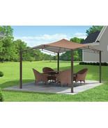 Steel Gazebo Garden Canopy Heavy Duty Large 12 x 12 Outdoor Permanent Pe... - $303.59