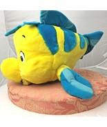 Disney World Yellow Flounder Fish Little Mermaid Plush Stuffed Animal To... - $15.00