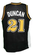 Tim Duncan #21 College Basketball Jersey Sewn Black Any Size image 2