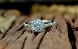 White Diamond Cushion Cut Womens Anniversary Ring Solid 14k White Gold Free Ship - $339.99