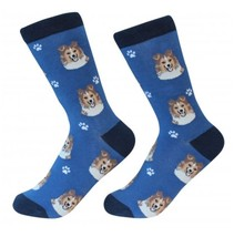 Sheltie Socks Unisex Dog Cotton/Poly One size fits most - $11.99