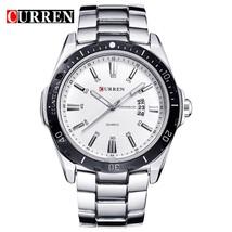 CURREN Fashion Business Wristwatch Casual Military Sports Men's Watch Full Steel - $51.45