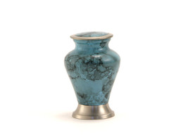 Keepsake Funeral Cremation Urn for ashes,5 Cubic Inches-Glenwood Blue Ma... - $49.99