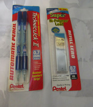 NOS Sealed Pentel Techniclick II Mechanical Two Pencil Set .7 mm With Ex... - $23.74