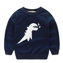 Kids Boys Dinosaur Sweatshirt Cotton Leisure Tops Baby jumper Children - $26.71 CAD+