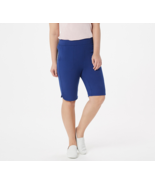 """Denim & Co. French Terry Pull-On Shorts - 11"""" Inseam, Bright Navy, M - $19.79"""