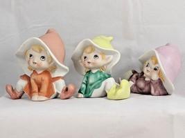 Lot of 3 Vintage Homco Garden Pixie Elf Fairies Ceramic Figurines #5213 - $19.34