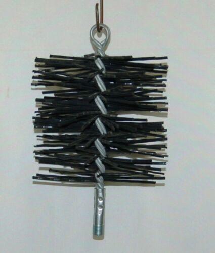 Unbranded Black Round 6 Inch Poly Chimney Brush No Handle