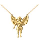 14K Yellow Gold Cherub Guardian Angel Midsize Necklace - $329.99+