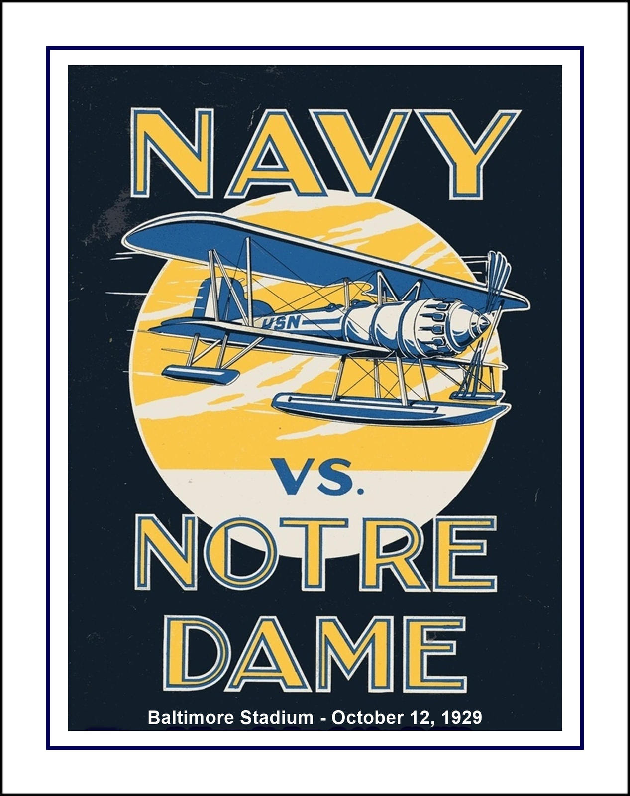 Vintage Notre Dame, Navy, Football Poster, and 50 similar items