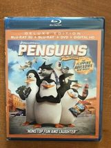 Penguins of Madagascar 3D [Blu-ray] Deluxe Edition Blu-ray 3D+ Blu-ray +... - $15.23