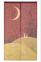 Made in Japan Noren Curtain Tapestry Shiki No Tsuki(Moon) - $28.00
