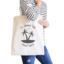 It's Summer Time Beach Party Natural Canvas Bags - $15.99