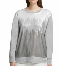 DKNY Womens Sweatshirt Gray Medium - $27.99