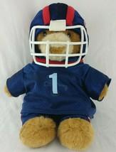 Football Player Build-a-Bear Workshop Helmet Uniform NFL Blue Red Plush ... - $8.95
