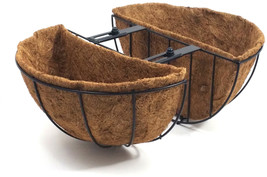 Patio Life 14-in W x 7.63-in H Black Metal Classic Planter - $28.72 CAD