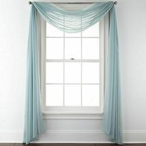 Liz Claiborne Home ~ Aqua Dust ~ 60 x 216 ~ Lisette Scarf Valance ~2 - $50.00