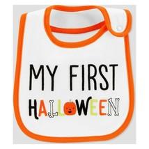 Carter's Teething Water Resistant Bib MY FIRST HALLOWEEN Pumpkin Bones C... - $5.93