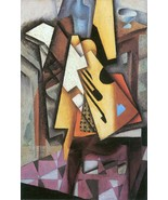 Guitar and stool by Juan Gris - Poster Wall Art Home Decor - $22.99+