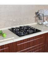 "PREMIUM 24"" Black Electric Tempered Glass Built-in Kitchen 4 Burner Gas ... - $190.81"