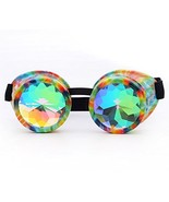 Lelinta Kaleidoscope Rave Steampunk Rave Glasses Goggles with Rainbow Cr... - $13.67