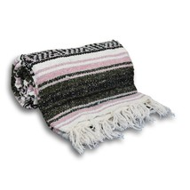 #11 Rose Gray  Mexican Falsa Blanket Great Beach Picnic Yoga Open Road B... - $21.17 CAD