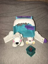 Fisher-Price Amazing Animals Polar Bear Friends Roll&Roar Habitat Tote Sounds - $12.86