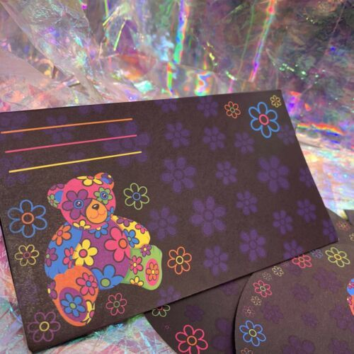 Vintage Lisa Frank Single Blossom Bear Dream Writers Postalette 90s Retro